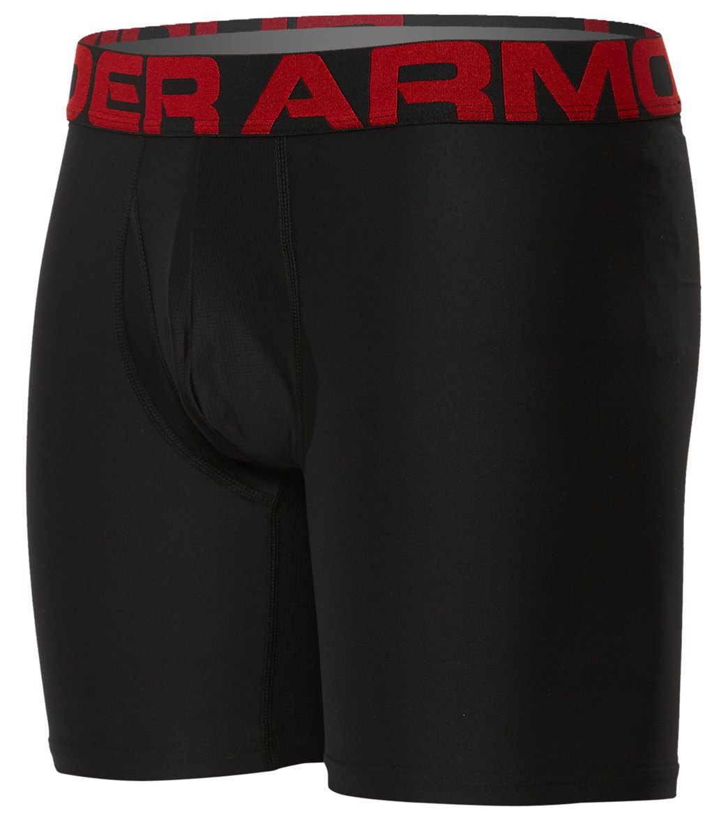 For ultimate comfort try the Under Armour Men\\\'s UA Tech 6 Boxer 2-Pack. FeaturesLightweight, smooth HeatGearfabric & articulated mesh fly panel 4-way stretch construction moves better in every direction Material wicks sweat & dries really fast Anti-odor technology prevents the growth of odor-causing microbes Performance waistband designed for a comfortable, stay-put fit Working flyDetailsFabric: 90% Polyester, 10% ElastaneFit: SnugInseam: 6\\\
