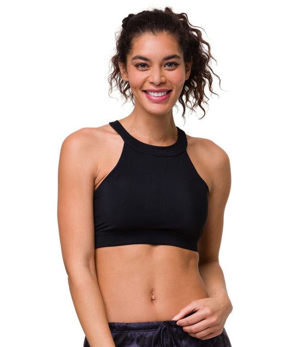 Onzie High Neck Ribbed Yoga Crop Top