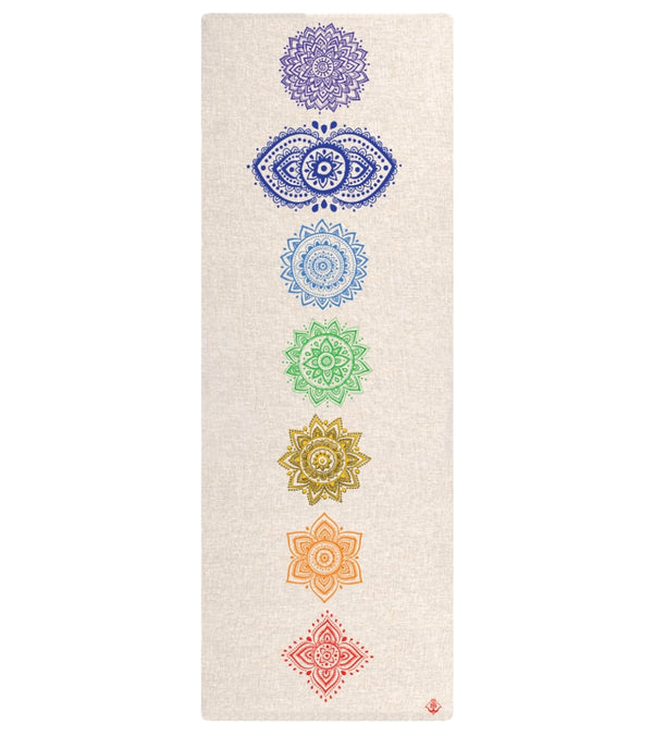 "Shakti Warrior Chakra Hemp Yoga Mat 72"" 3mm"