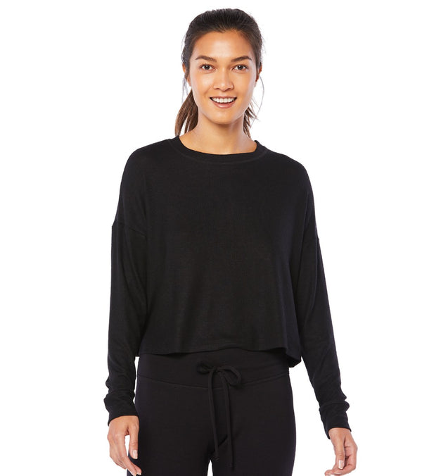 Beyond Yoga Luxe Lounger Brushed Up Cropped Pullover
