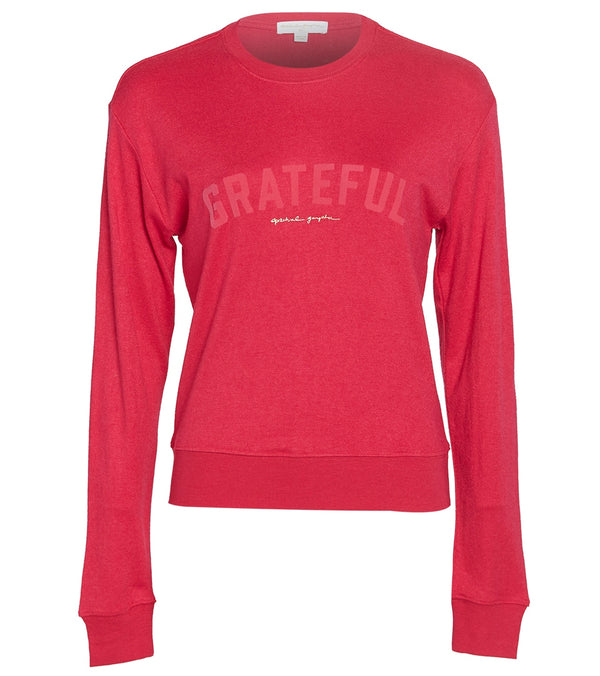 Spiritual Gangster Grateful Crew Neck Savasana Pullover