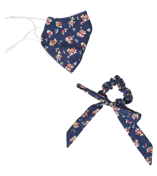 Free People Floral Mask and Scrunchie Set