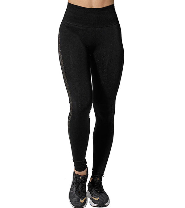 925Fit Gold Digger Reversible Yoga Leggings