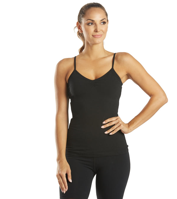 Hard Tail Shirred Yoga Tank