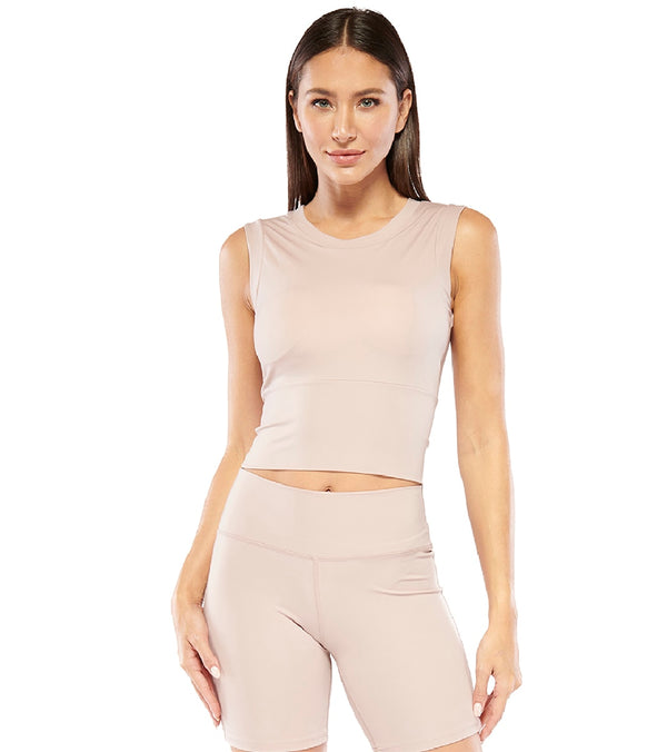 Electric Yoga Cropped Top with Built in Padding
