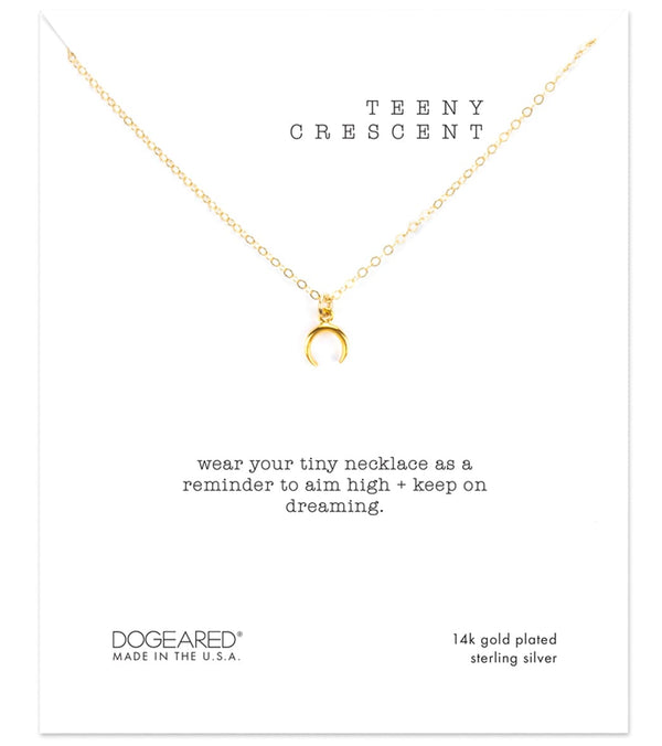 Dogeared Teeny Crescent Necklace
