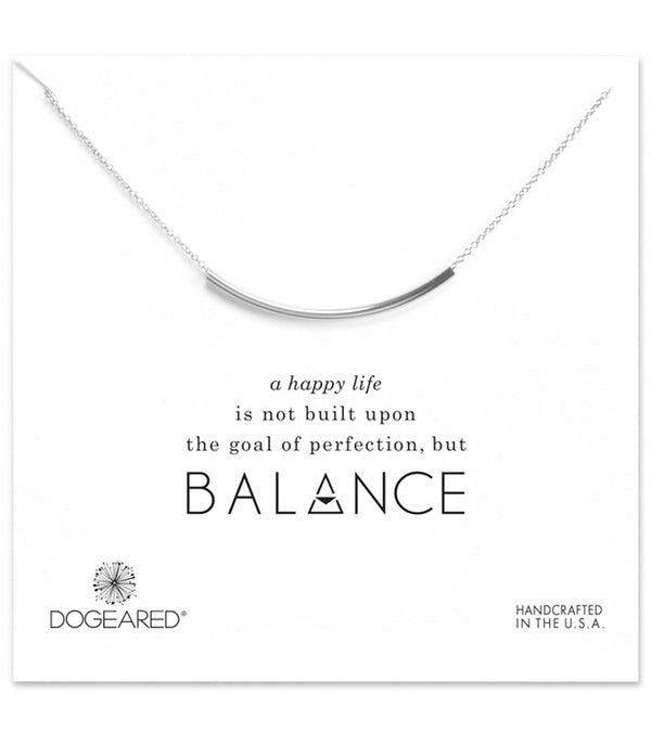 Dogeared Balance Tube Necklace