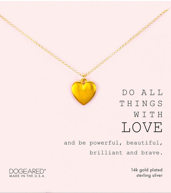 Dogeared Do All Things With Love Necklace