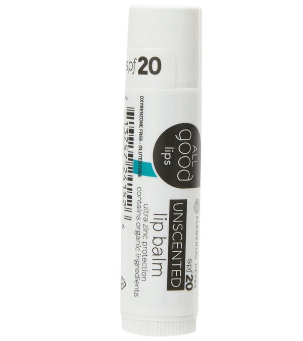 All Good SPF 20 Unscented Lip Balm