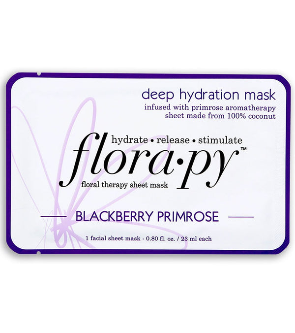 Florapy Deep Hydration Aromatherapy Sheet Mask, Blackberry Primrose