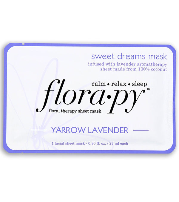 Florapy Sweet Dreams Aromatherapy Sheet Mask, Yarrow Lavender
