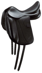 "Amerigo Vega Dressage Single Flap 17.5"" Black Medium Dressage Saddle"