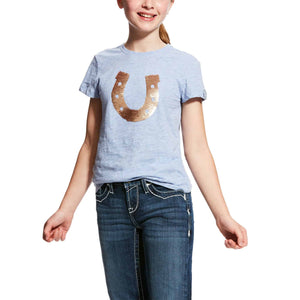 Ariat Girl's Sequin Shoe SS T-Shirt Kids Clothing and Footwear