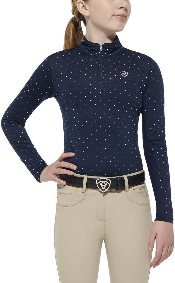 Ariat Girl's Sunstopper - Navy Dot Kids Clothing and Footwear