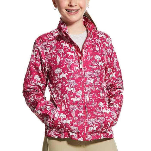 Ariat Girls Avery Jacket - Beet Pink Toile Kid's Clothing and Footwear
