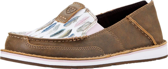 Ariat Women's Cruiser - Brown Bomber, Watercolour Feather Footwear