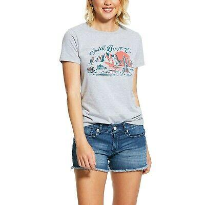 Ariat Women's Free Spirit Scape Tee - Athletic Grey Casual Clothing