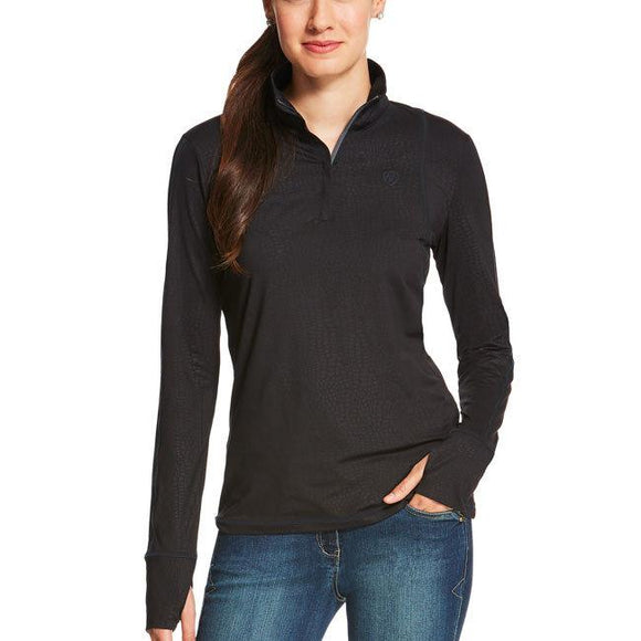 Ariat Women's Lowell 1/4 Zip Ebony Casual Clothing