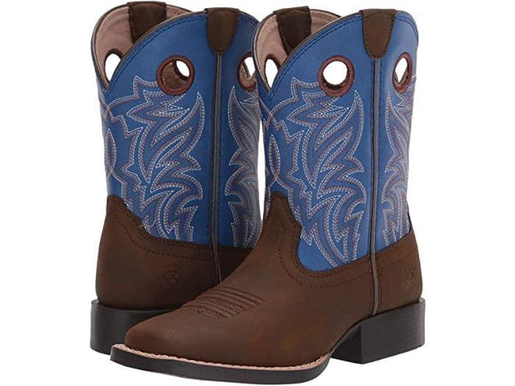 Ariat Youth Catch 'Em - Dark Chocolate/Cloud Blue Kid's Clothing and Footwear