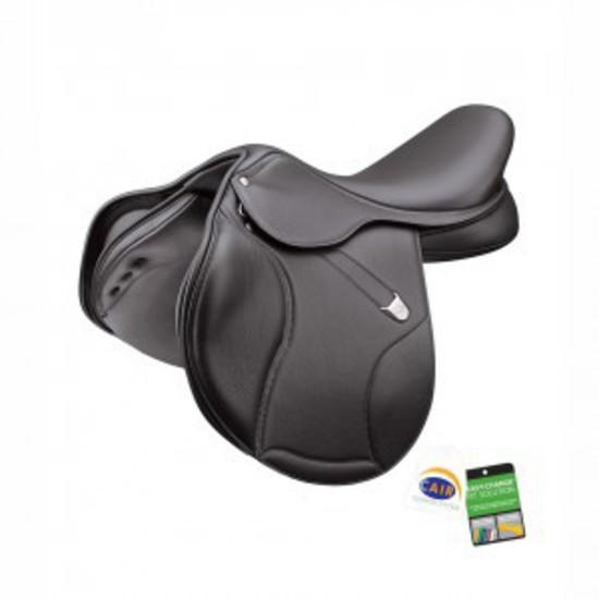 "Bates Elevation Deep Seat 17.5"" brown Jump Saddle"