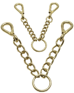 Brass Walsall Argosy Chain - Pony Bridle Accessories