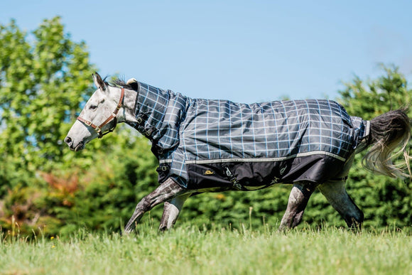 Cavallino Badminton Combo 1200D 220gm Dark Grey Plaid Winter Covers