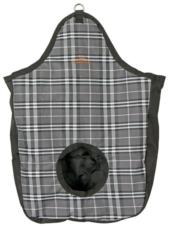 Cavallino Grey Plaid Hay Feeder Bag Haynets