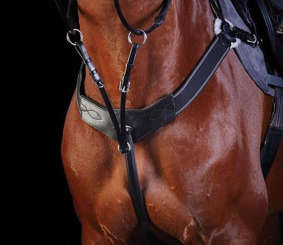 Collegiate 3 Point Breastplate Training Aids - Breastplates, Martingales, Running Reins etc.