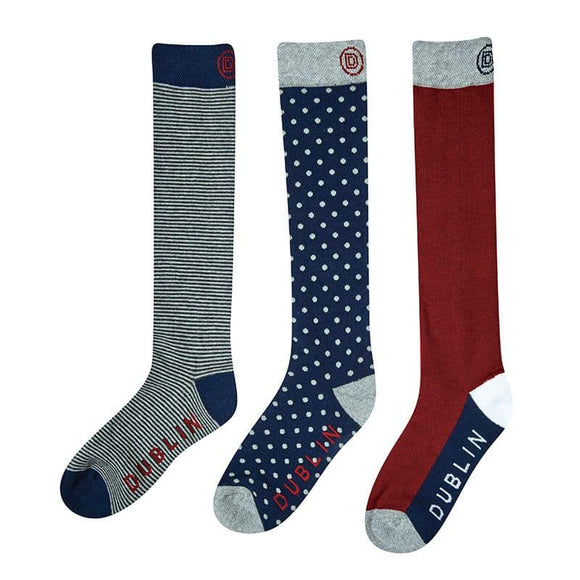 Dublin Three Pack Socks - Adults One Size Gloves and Socks
