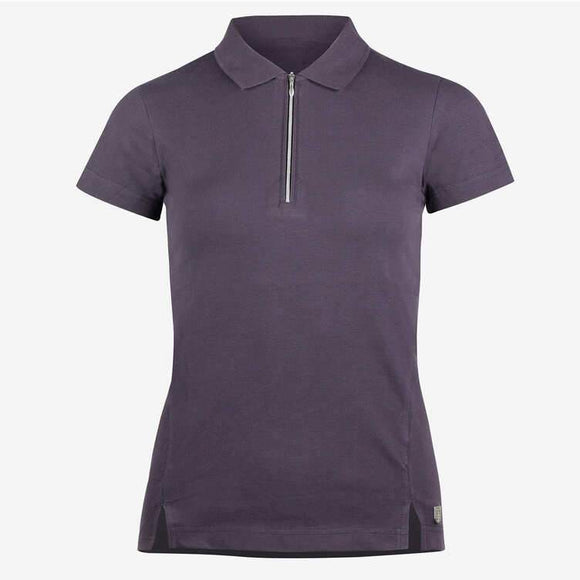 Horze Jasmine Lds Short Sleeve Shirt - Nightshade Purple Casual Clothing