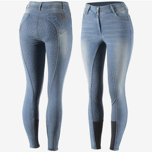 Horze Kaia Lds Denim Full Seat Breeches Breeches/Tights/Jodhpurs