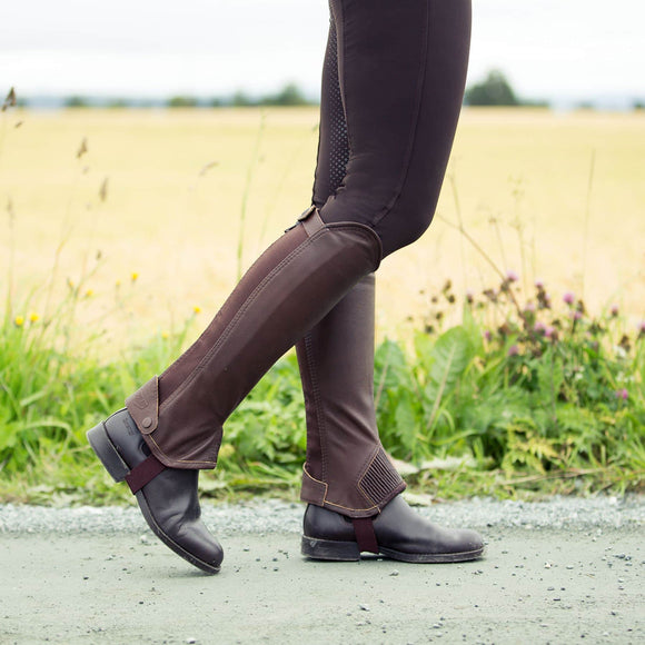 Horze Leather Half Chaps Footware