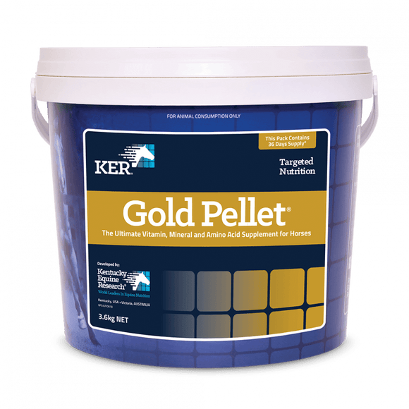 KER Gold Pellet 3.6kg - Vitamin, Trace Mineral & Amino Supplement Equine Health Supplements