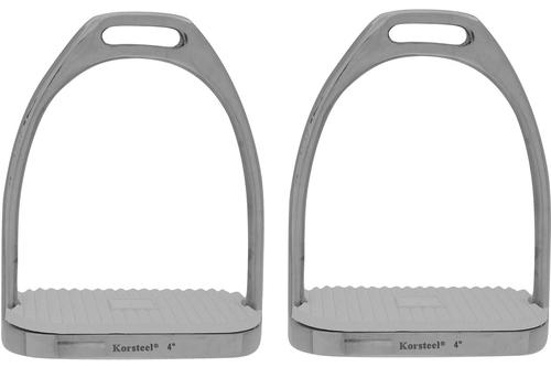 Korsteel SS Knife Edge Stirrup Irons with treads Saddle Accessories (Girths/Leathers/Stirrups)