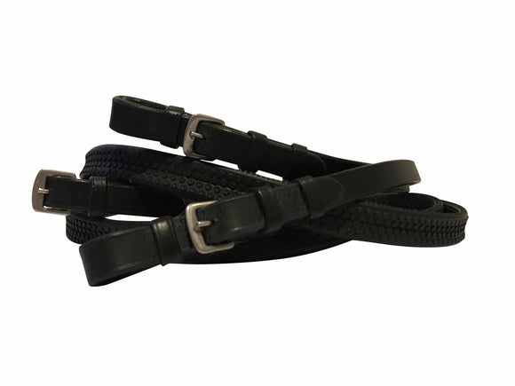 Lumiere Leather & Rubber Grip Reins  - Full Reins