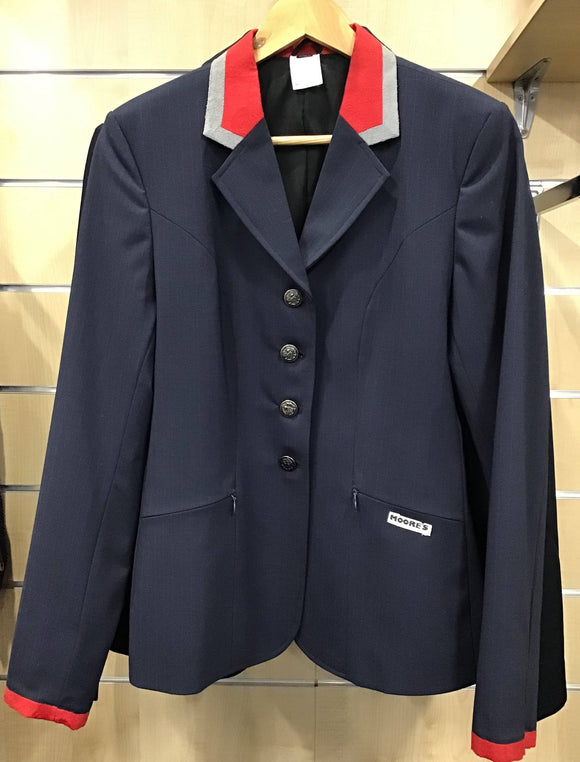 Moores show jacket - Navy with Red Trim Competition Wear