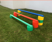 NZ Made Heavy Duty Plastic Poles - Designed to match the Jump Pods Jump Accessories