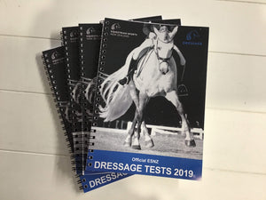 Official ESNZ Dressage Test Book 2019 Rider Accessories - Stocks/Ties/Hairnets/Spurs etc