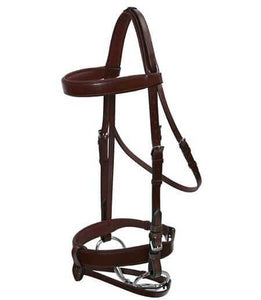 PLATINUM WIDE PADDED HUNT BRIDLE HEAD Bridles