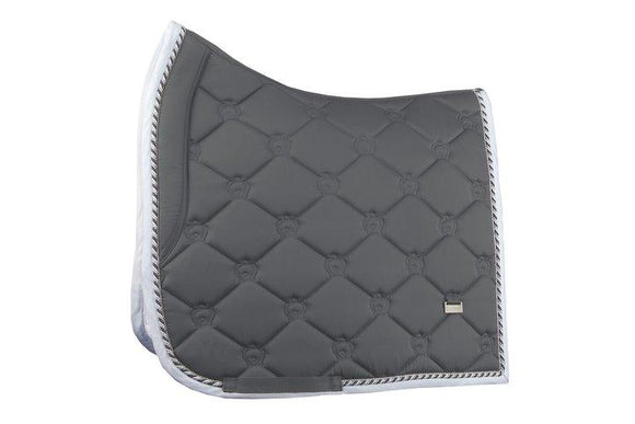 PS of Sweden Dressage Square - Charcoal Saddle Blankets & Halfpads/Correction Pads