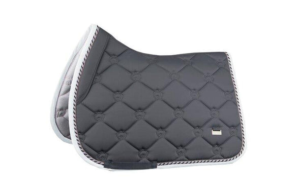 PS of Sweden Jump Square - Charcoal Saddle Blankets & Halfpads/Correction Pads