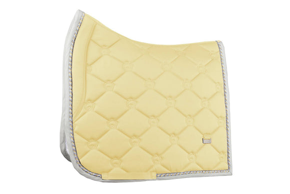 PS of Sweden Monogram Dressage Pad, Vanilla (full) Saddle Blankets & Halfpads/Correction Pads