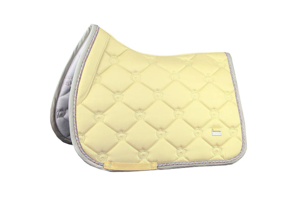 PS of Sweden Monogram Jump Saddle Pad - Vanilla (Full size) Saddle Blankets & Halfpads/Correction Pads