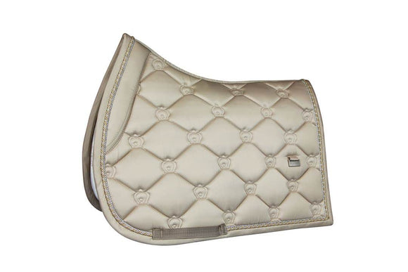 PS of Sweden Saddle Pad, Monogram, Champagne - Jump Saddle Pads & Half Pads