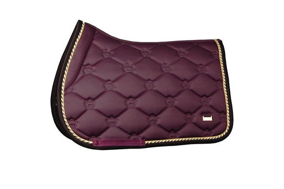 PS of Sweden - Saddle Pad Monogram Wine, Jump - Full Saddle Blankets & Halfpads/Correction Pads
