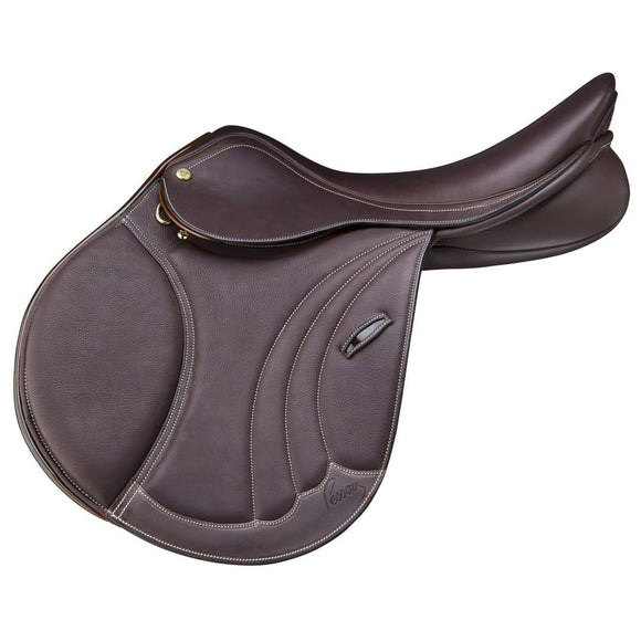 Pessoa Tomboy Covered Leather Saddle - Dark Brown Saddle