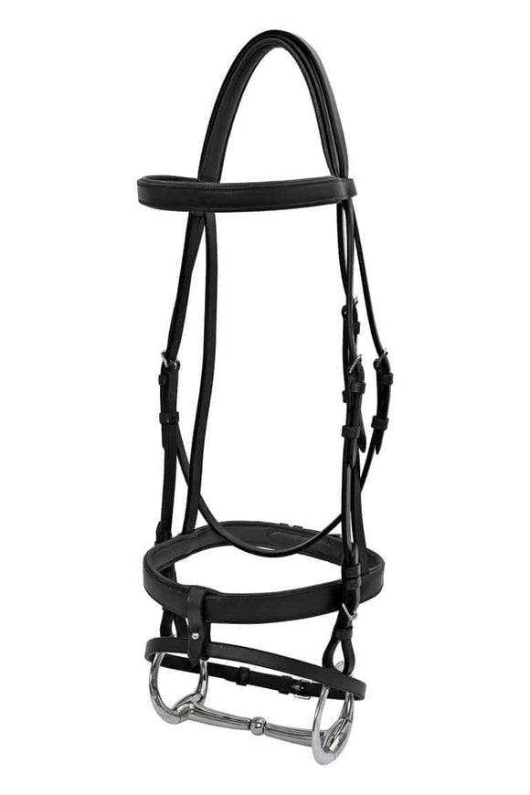 Platinum Padded Flat Hanoverian Bridle Bridles
