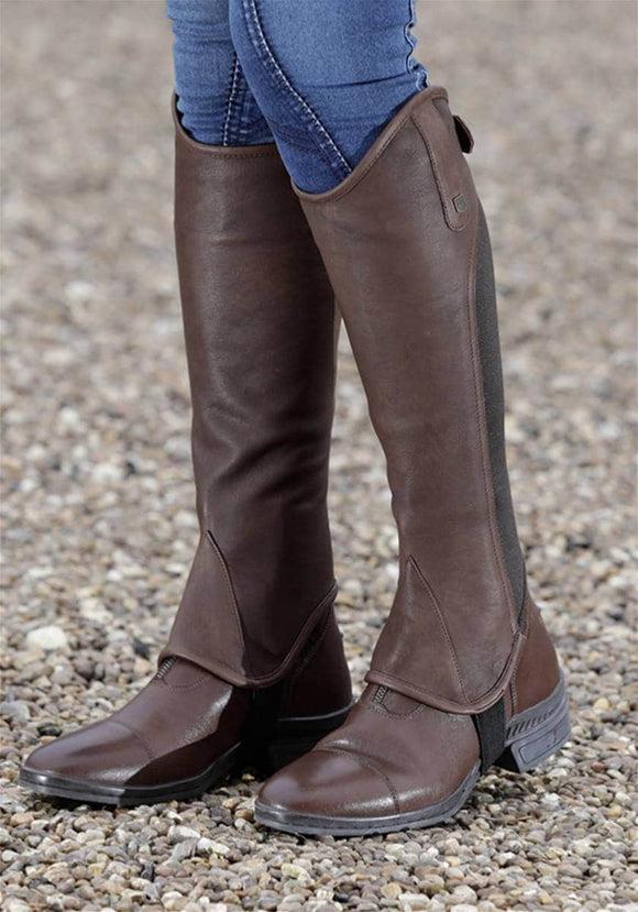 Premier Equine 'Emrisa' Ladies Leather Half Chap Footwear