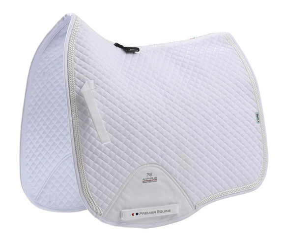Premier Equine European Cotton Saddle Pad - Dressage Square Saddle Blankets & Halfpads/Correction Pads