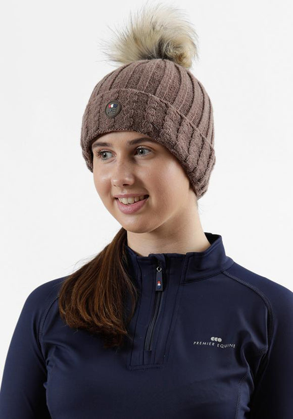 Premier Equine Knitted Bobble Hat Rider Accessories - Stocks/Ties/Hairnets/Spurs etc